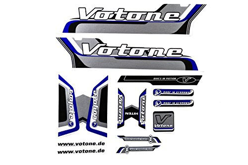 Fahrrad Dekor Satz Aufkleber Rahmen Frame Decal Sticker Votone Coyote Label Blau