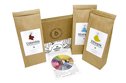 Coffee Gift Pack, Single Origin Coffee ✔ Hand Roasted 50g Each Ground Coffee, Coffee Selection Pack, Date Stamped ✔ Letterbox Friendly Packaging ✔ Fresh Roasted ✔ Ethically Sourced ✔ (Ground)