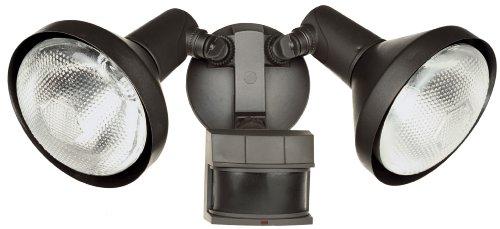 Heath Zenith HZ-5318-BZ Motion-Sensing Shielded Wide-Angle Twin Security Light, Bronze