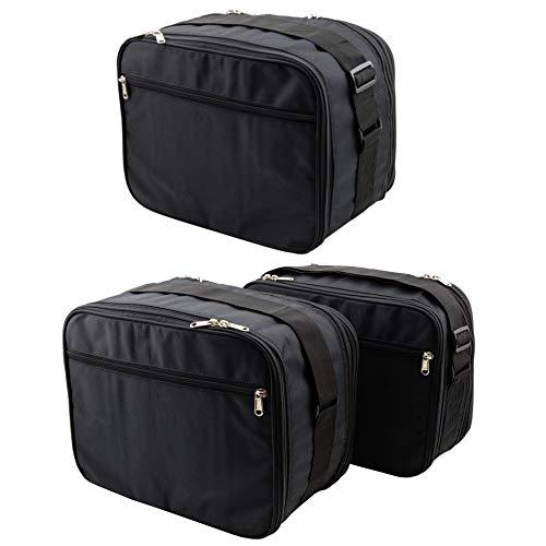 SET de 3 bolsas, bolsillos interiores adecuados para 2 maletas laterales moto (Vario) y 1 maleta moto (Vario / Top Case) de BMW Adventure BMW F700GS, F800GS, R1200GS - Nr. 14+16