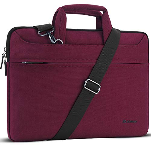 DOMISO Maletín para portátil de 13,3 pulgadas, resistente al agua, para MacBook Pro Retina/MacBook Air/Dell XPS 13/Acer Swift 1/Surface Book/Lenovo/HP/ASUS, color fucsia