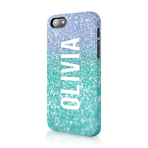 Personalised iPhone 4 & 4s Tirita Hard Case Cover PRINTED GLITTER, NOT REAL...