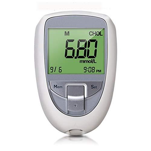 3IN1 Medidor de Glucosa en Sangre, 3 en 1 Sangre Glu & UA & CHOL Glucose Meter URIC TRANT FRIRT Cholesterol Diabetes Tester Kit DIABET (Color : Meter+25 Blood Strips)