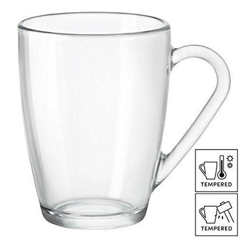 6 X Grande tasse à café/thé/café latte en verre 32 cl (11 ¼ oz)