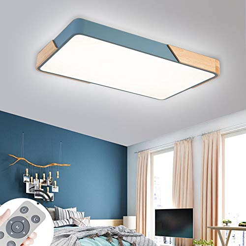 72W lamparas techo modernas plafón LED de madera atmósfera
