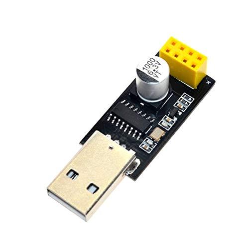MXECO USB-zu-Seriell-Modul Esp8266 TTL WiFi-Modul Esp-01 Ch340G Development Board 8266 WiFi Adapter High Speed CPU (schwarz)