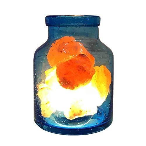 Wubing Lámpara Alt Himalaya Sal Cristalina De La Lámpara Fragancia Lámpara De Noche Lámpara De Noche Dormitorio De La Luz Regalo Iluminación Ajustable (Color : Photo Color, Size : 11.5 * 15.5CM)
