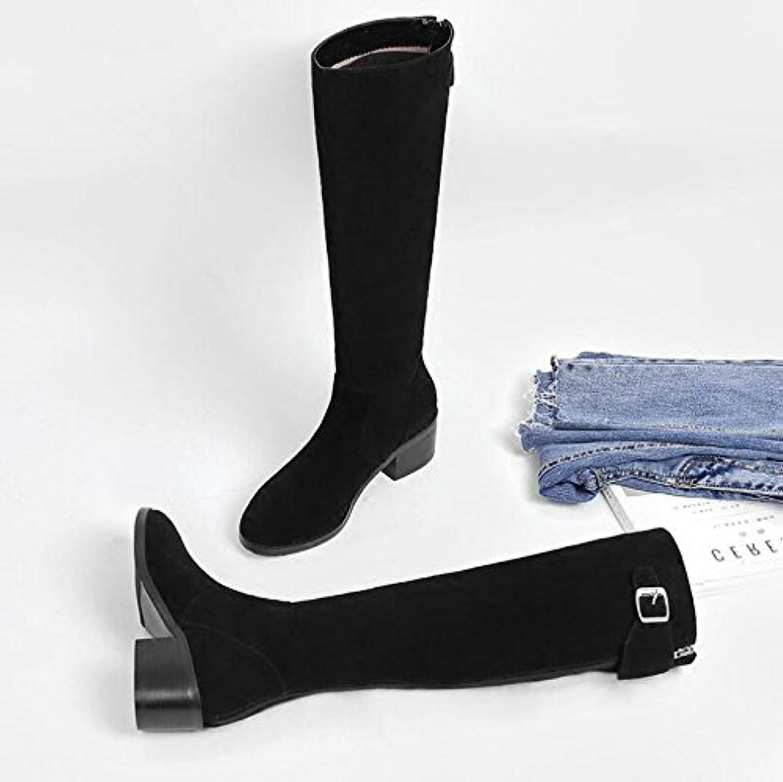 KHSKX - Dock Dock Dock Knee Long stövlar Midge Long stövlar Winter Thickening Plus sammet Varma Kvinnliga Högskor och Likt sandpapper  online försäljning