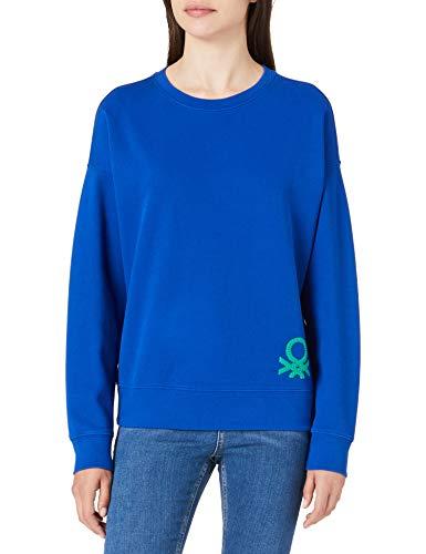 United Colors of Benetton (Z6ERJ Maglia G/C M/L 35YVE19H8 Sudadera con Capucha, Surf The Web 19r, XS para Mujer