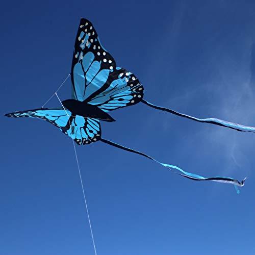 Wolkenstürmer Bella Butterfly Blau Lenkdrachen für Kinder - 1-Leiner...