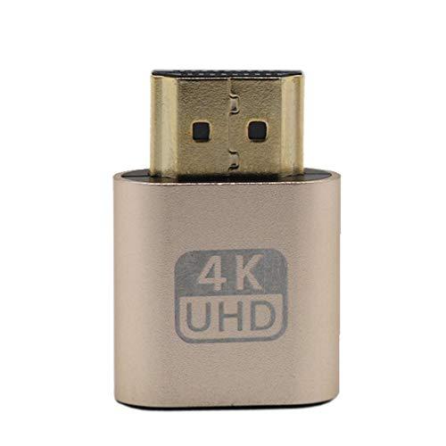 bansd Adaptador emulador de Enchufe simulado Compatible con Vga HDMI para Pantalla Virtual Ddc Edid Gold