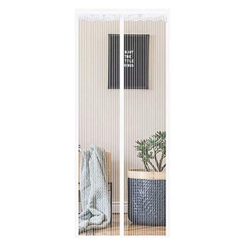 YANGHUI Magnetic Fly Screen Door Keep Insects Out Mosquito Door Screen Easy to Install without Drilling Top-to-Bottom Seal Automatically Balcony Sliding Living Room Children,70×200cm(27.5×78.7in)