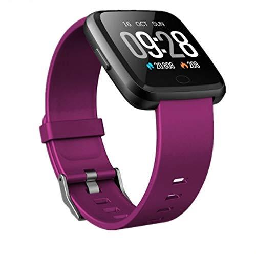 Alvnd multifunctionele smart armband voor heren, hartslagmeter, bloeddrukmeter, fitnessarmband, horloge vol touchscreen, smartwatch riem, A