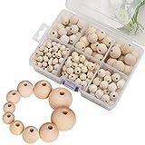 JUSTDOLIFE 320 peças de miçanga de madeira DIY espaçador de madeira miçanga solta para fabricação de joias