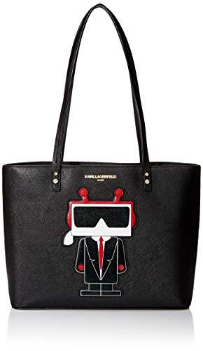 Karl Lagerfeld Paris Damen MAYBELLE CHOUPETTE TOTE Tragetasche, Digital Black, Einheitsgröße