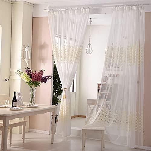 FACWAWF Cortinas De Pantalla De Ventana Bordadas De Hilo Blanco Moderno Y Simple para Sala De Estar Dormitorio Balcón Cortinas Anti-Ultravioleta De Luz Solar Suave 2xW250xH270cm