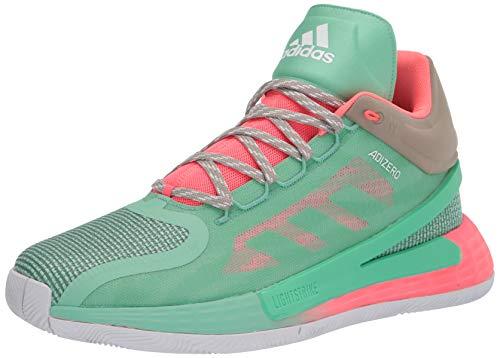 adidas unisex adult D Rose 11 Basketball Shoe, Prism Mint/Red Zest/Beige, 13 Women Men US