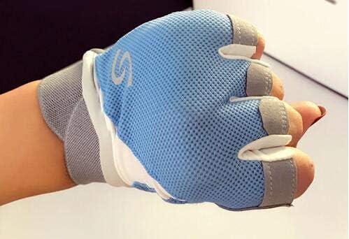 Men Women's Spring Summer Fingerless Sports wear Driving Gloves Female Non-Slip Breathable Riding Gloves R1094 - (Color: Blue, Gloves Size: S)