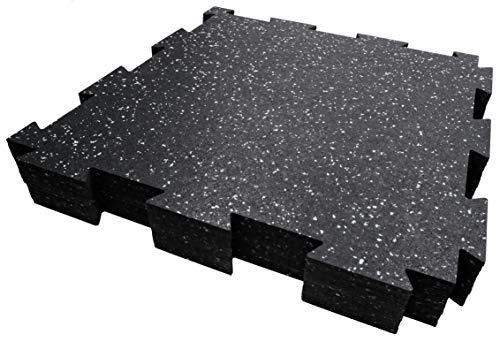 Suelo de goma King Performance – Los mejores azulejos interiores y exteriores de 19 pulgadas x 19 pulgadas – 6 mm, 10 piezas (23.5 pies cuadrados) (gris)