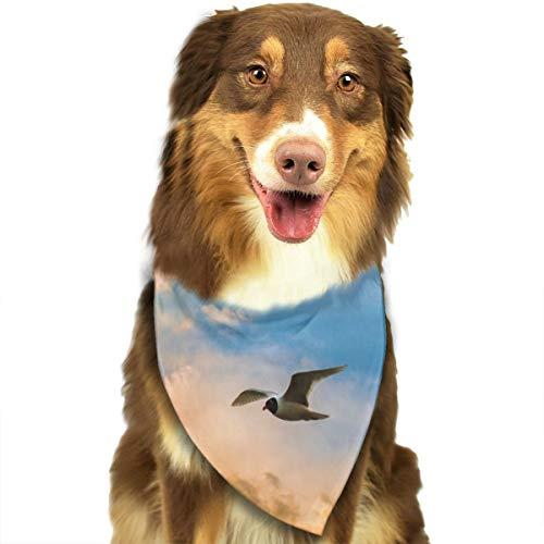 Sitear Bird Flight Sky Wolken Behang Hond Kat Bandana Driehoek Bibs Sjaal Huisdier Geschikt voor Kleine Tot Grote Hond Katten