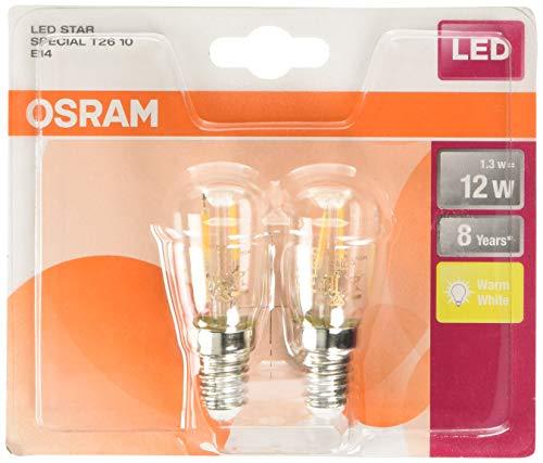 OSRAM LED Star Special T26, mit E14-Sockel, Nicht Dimmbar, Ersetzt 10 Watt, Filamentstil Klar, Warmweiß - 2700 Kelvin, 2er-Pack