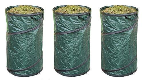 Posten Anker 3X Gartentonne PopUp 45 x 75 cm   Garten-Abfallsack 120 Liter selbst stehend   XXL Gartentasche