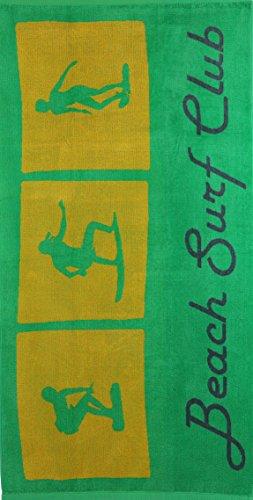 Betz Toalla de Playa de Terciopelo Toalla de baño 100% algodón 70x140 cm diseño Beach Surf Club