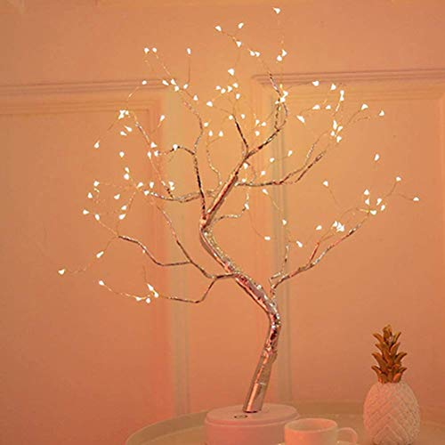 Suszian Lámpara de árbol, 108 LED Flor de árbol Luz de Escritorio Lámpara de árbol de Bonsai de Bricolaje para decoración de Dormitorio de Boda
