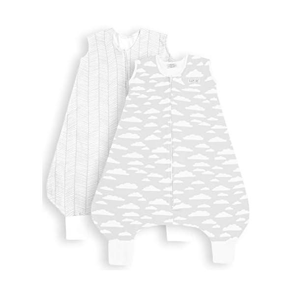 BaeBae Goods Grey Clouds Leg Sleep Bag Wearable Blanket