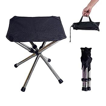 CJBIN Tabouret Pliant Camping, Chaise Camping Portable avec Sac de Transport, Mobilier de Camping Chaise Peche, pour Voyage, Randonnée, Camping, Rassemblement, Barbecue, Pêche