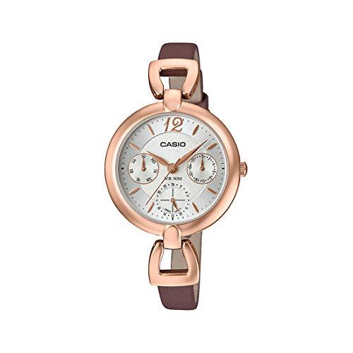 Casio Ltp-e401pl-7avdf Reloj Analógico para Mujer Colección Enticer Caja De Metal Esfera Color Plateado