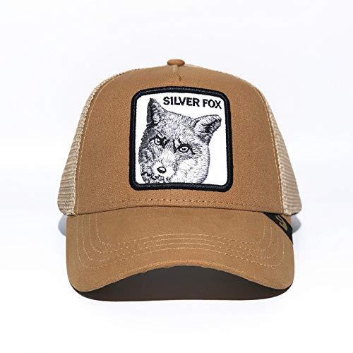 sdssup Gorra de béisbol Animal Sombrero Bordado Lobo Caqui Fox ...