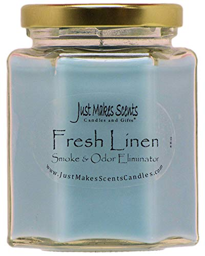 Just Makes Scents Candles & Gifts Fresh Linen Scented Smoke & Odor Eliminator Candle
