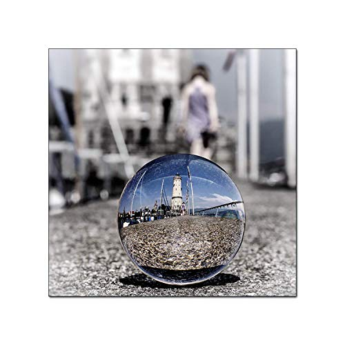 Yeti-Gold Glaskugel Fotografenqualität 10cm allein oder mit Glassockel (10cm Fotokugel Plus Glassockel)