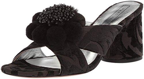 Marc Jacobs Damen Aurora Pompom Mule Sandale, schwarz, 37 EU