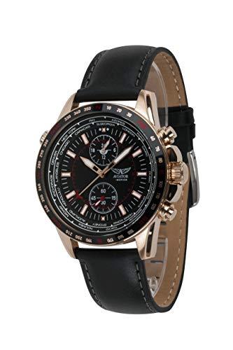 AVIATOR World Cities AVW78427G389 - Reloj para hombre, color oro rosa