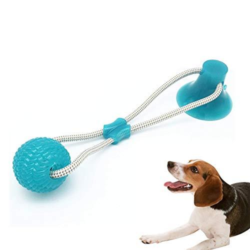 Nifogo Hundespielzeug mit Saugnapf, Pet Molar Chew Spielzeug, Multifunktions Durable Interactive Kauball Spielzeug für Hunde, Elastische Hundespielzeug Ball mit Seil für Kleine/Mittlere Hunde (Grün)