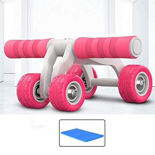 Máquina de ejercicios Equipo de ejercicios con rueda de rodillos Ab - Equipo de ejercicios con ruedas Ab - Rodillo de ruedas Ab para gimnasia en el hogar - Máquina Ab para ejercicios Ab - Equipo de ej