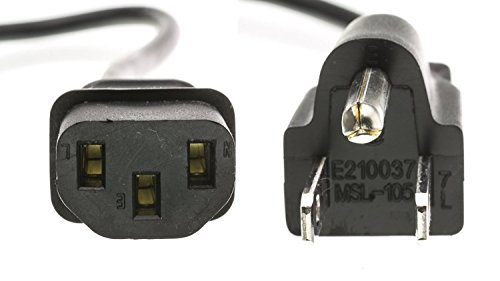 iMBAPrice 12 Ft Universal AC Power Cord - NEMA 5-15P to IEC320C13 UL Listed 3 Prong Power Cable
