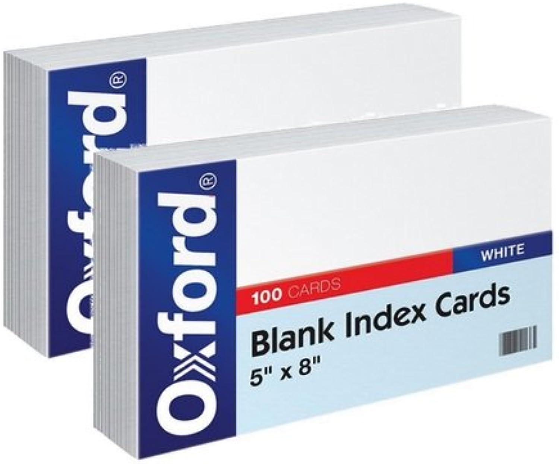 Oxford, blanko, Karteikarten, 12,7 x x x 20,3 cm weiß, 100 Pack (50) 2er-Pack B075LMTKDG | Zuverlässige Qualität  15d306