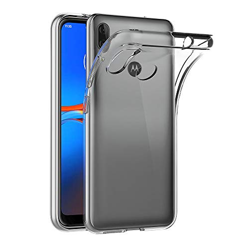 AICEK Hülle Compatible für Moto E6 Plus Transparent Silikon Schutzhülle für Motorola Moto E6 Plus Hülle Clear Durchsichtige TPU Bumper Moto E6 Plus Handyhülle (6,1 Zoll)