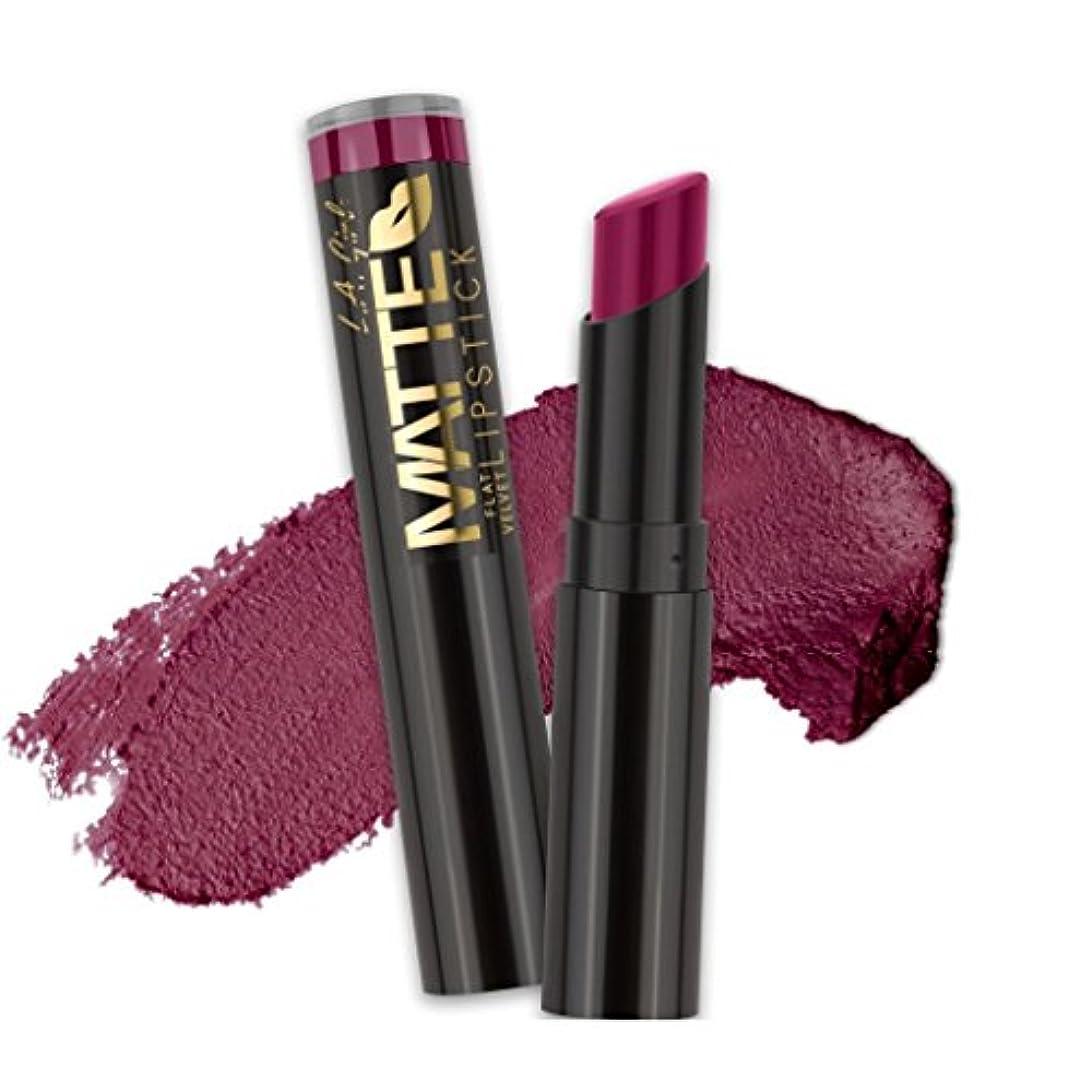 シェーバー嫌悪バスルームL.A. GIRL Matte Flat Velvet Lipstick - Va Voom! (並行輸入品)