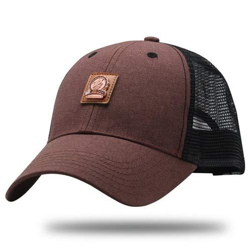 QOHNK Gorra de béisbol para Hombre y Sombreros para Hombres Gorra de Camionero de Hueso de Verano Sombrero de Hip Hop de Camuflaje Negro Militar para Adulto