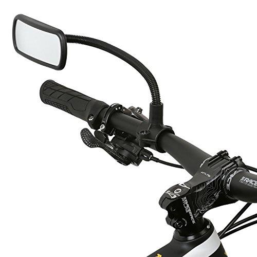 Wicked Chili Rückspiegel für Fahrrad/E-Bike/Roller/Mofa/Rollstuhl/Rollator/Kinderwagen/Golf Cart mit Schwanenhals (Spiegel Größe: 104 x 42 mm, Rohrmontage, Made in Germany)