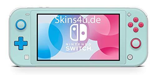 Skins4u Aufkleber Skins für Nintendo Switch Lite Vorder & Rückseite Decal Cover Sticker Schutzfolie Design Solid State Mint
