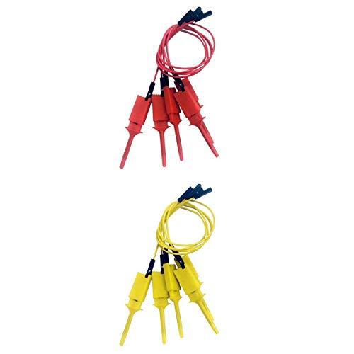 Almencla Mini Drehmaschine Schnellwechselstahlhalter Mit Mehreren Werkzeughaltern Robuster, Gelber Und Roter 200 Mm Prüfhakenclip