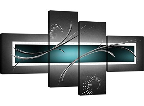 Wallfillers 4228 - Lienzo decorativo (4 partes, 160 cm), diseño abstracto