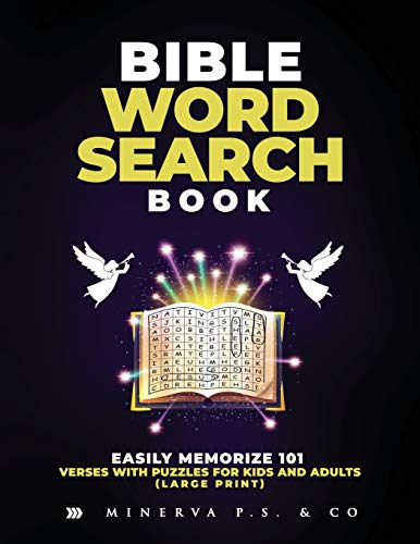 Bible Word Search Book: Easily Memorize 101 Verses with Puzzles for Kids and Adults (Large Print)