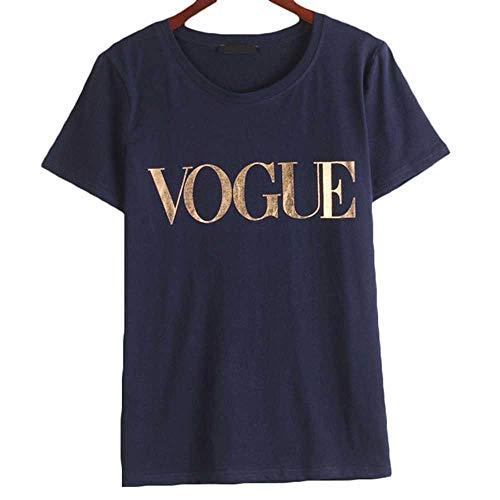Vogue T-Shirts Frauen Kurzarm O-Ausschnitt Koreanische Stil Kleidung Frauen Loose Black Top T-Shirt Mode Casual Tops T-Shirt für Frauen