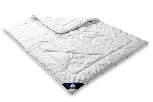 Badenia Bettcomfort Irisette Kamel Steppbett, Duo Bettdecke aus Kamelhaar für den Winter, 135 x 200 cm, weiß